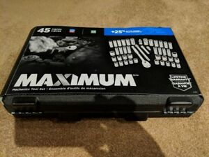 MAXIMUM 45 Piece 1/2 inch Drive Socket Set [BRAND NEW]