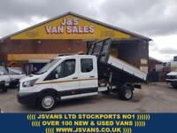 2017 66 FORD TRANSIT T350 EURO 6 130 BHP 2017 CREWCAB ALLOY TIPPER DIESEL