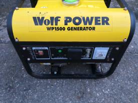 Wolf power 1500 generator 4 stroke for sale  Ferndale, Rhondda Cynon Taf
