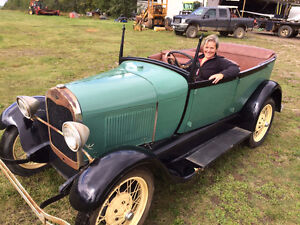 Green 1926 Ford Model A Touring Car