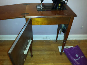 Singer portable sewing machine 2 antique table singer table modl