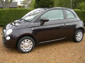 2014 Fiat 500 1.2 Dualogic POP, Automatic, Purple, Stop Start, FSH, 20,700