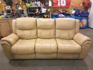Elran Genuine Leather Reclining Couch  St. John's Newfoundland image 1