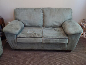 Green Microfiber couch set