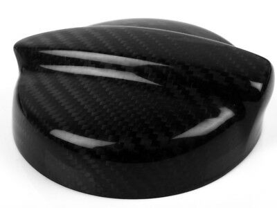Used, * For BMW Mini Cooper R53 Real Dry Black Carbon Fiber Fuel Gas Cap Oil Cover for sale  Shipping to Canada