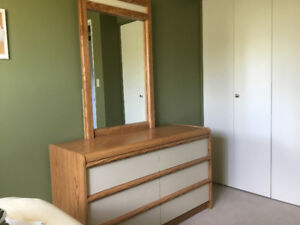 Dresser with mirror and matching night stand