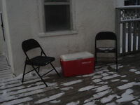 COOLER & CHAIRS