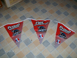 MONTREAL COUPE GREY CUP 2001-COLONEL SANDERS PLASTIC FLAG AD