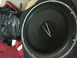 """18"""" subwoofer and amp"""