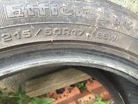 4x Goodyear tyres 17 inch partworn