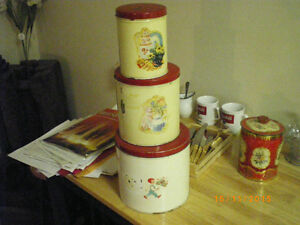 old kitchen canisters about 1920