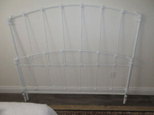 White, queen size headboard for SMALL room