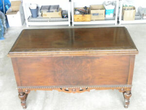 Antique Cedar Chest and Accent Chair