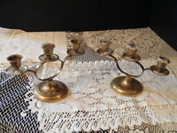 Vintage Brass Candle Holders $30 set of 2