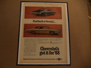 OLD CHEVY CLASSIC CAR FRAMED AD Windsor Region Ontario image 3