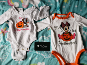 Cache-couche Halloween fille 3 mois.