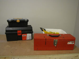 Three tool boxes + random tools