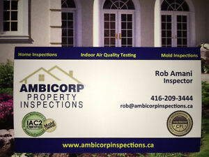 CERTIFIED HOME INSPECTOR. RATED 9.8/10 ON HOMESTARS 416-209-3444