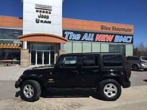 2015 Jeep Wrangler Unlimited Sahara  ACCIDENT FREE, MP3/SAT/BLUE