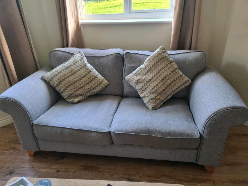 Dfs Angelic 2 Seater Sofa Grey Fabric In Wrexham Gumtree