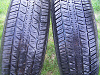 "Four 13"" tires, Grenadier SE Road King 85S M + S P18570R13."