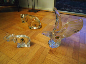 Waterford 3 Antique Crystal Animals Figurine Collection!