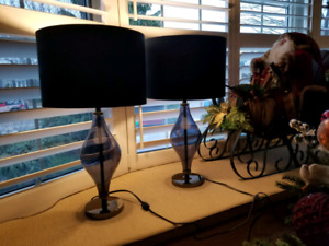Beautiful Navy Colour Table lamps