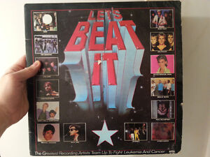 """Let's Beat It""  Vinyl Record, compilation of 80s hits"