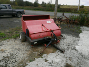PTO powered tow behind sweeper