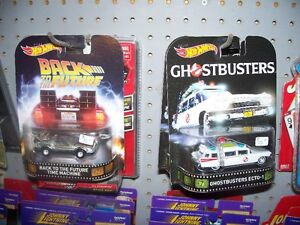 Ghost Buster ecto 1 & Back to the future 1/64 diecast