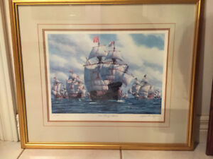 2 Paintings by Famous Ship Painting Artist, Mark Myers of UK