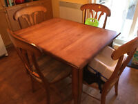 Solid wood kitchen table - extendable!