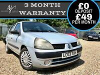 2003 AUTOMATIC RENAULT CLIO 1.4 AUTO EXPRESSION MODEL ☆ LONG MOT ☆ LOW MILES!
