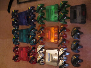 All 6 Funtastic Series N64 Systems & Rare Gold N64 System