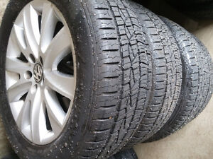 Volkswagen Tiguan Mags and Tire 235-55-R17 Bolt Pattern 5X112mm