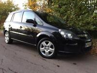 2007 Vauxhall Zafira 1.6i 16v Energy, 7 Seater, Black, MOT 11/2017
