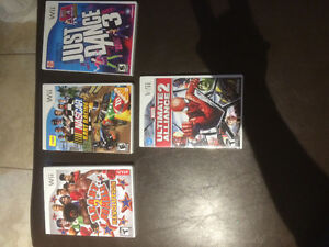 WII and 4 games