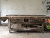 Vintage joiners work bench