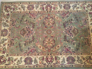 One of a kind  hand made wool area rug