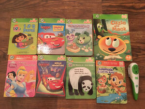 "Leap Frog ""Tag Jr"" w/ 8 books & reader pen - Kelowna"