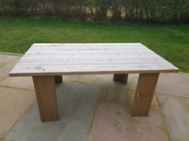 Garden table, Treated wood long lasting this one is 120 cm long hand m
