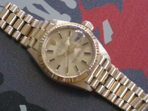 1981 ROLEX OYSTER PERPETUAL DATEJUST 6917 ON PRESIDENTIAL 18K BR