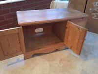 Solid pine TV cabinet with space for satellite box, DVD etc.
