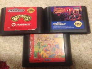 Sega genesis games x3(RARE game)