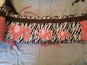 Zebra print cribbing