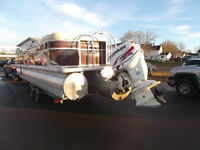 SOUTHLAND 31 FT 16 PASS PONTOON WITH 150 H.O. EVINRUDE