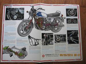 Yamaha XS750-2D Spec Pamphlet Sarnia Sarnia Area image 3