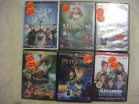 FOR SALE 32  DISNEY MOVIES NOT OPEN.5 FOR $50.00