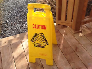 Caution  Wet Floor Warning board Moving sale