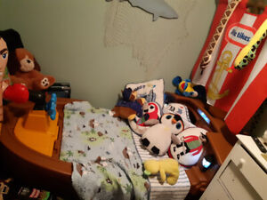 Toddler Pirate Bed in great condition with 2 pirate pictures.